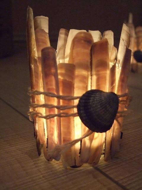 DIY Muschel-Teelicht