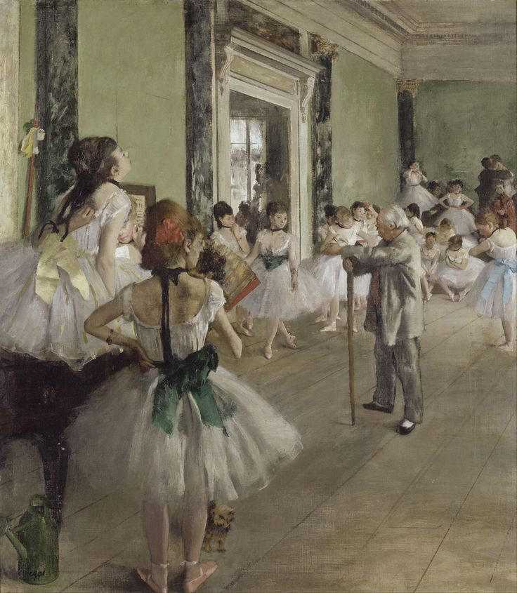 The Ballet Class by Edgar degas - Some say, that he was a pedophile or something. My opinion is, that he was a great painter and he simply liked to paint ballerinas.