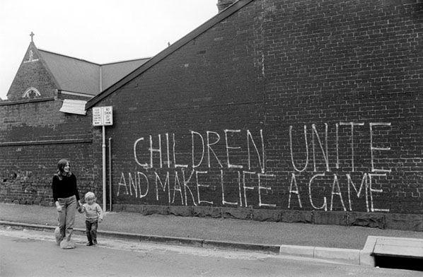 Children Unite, South Melbourne (1974)- Rennie Ellis