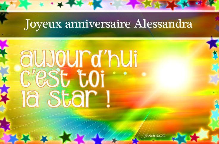Cartes virtuelles joyeux anniversaire Alessandra