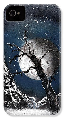 Night Of Wolves IPhone 4 / 4s Case Printed with Fine Art spray painting image Night Of Wolves by Nandor Molnar (When you visit the Shop, change the orientation, background color and image size as you wish)