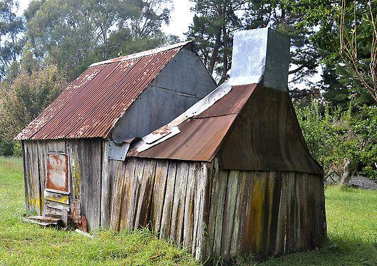 Old mining shack in Australia