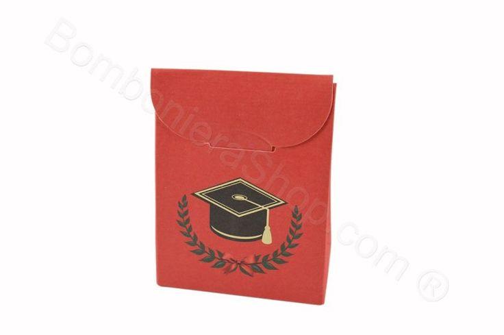 Portaconfetti a bustina per il fai da te con tocco laurea