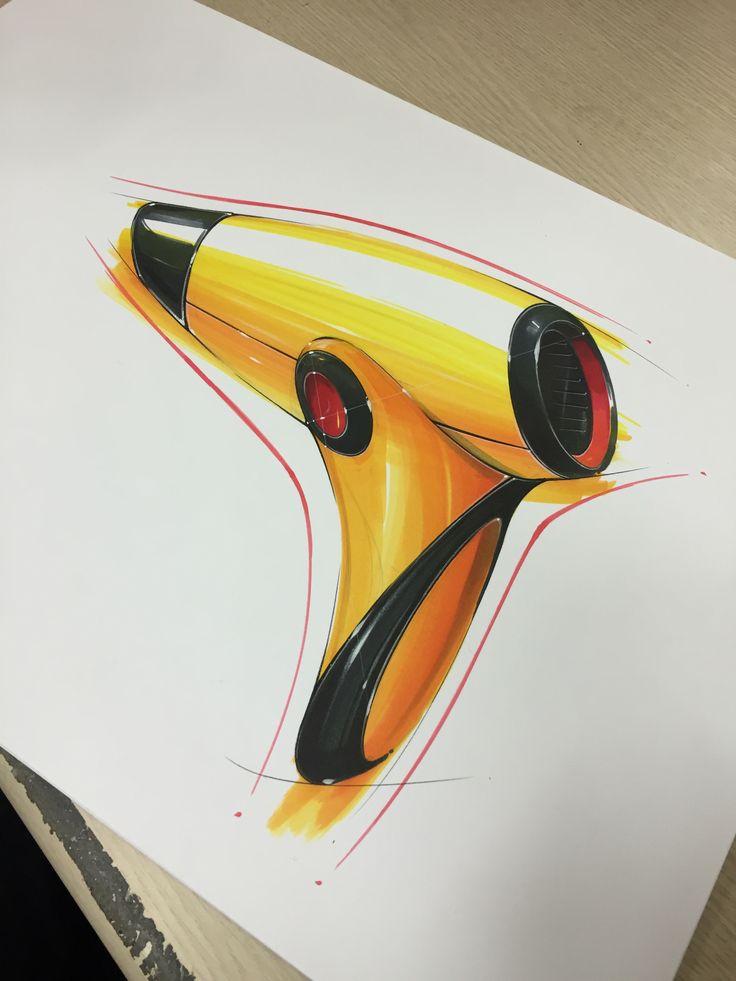 Hairdryer marker rendering
