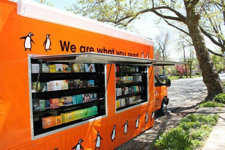 Penguin book truck