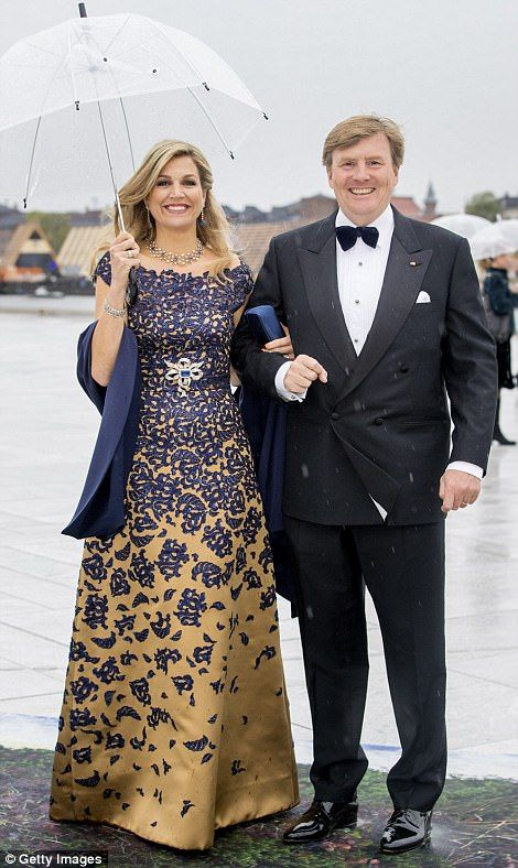 Queen Máxima and King Willem-Alexander of the Netherlands...
