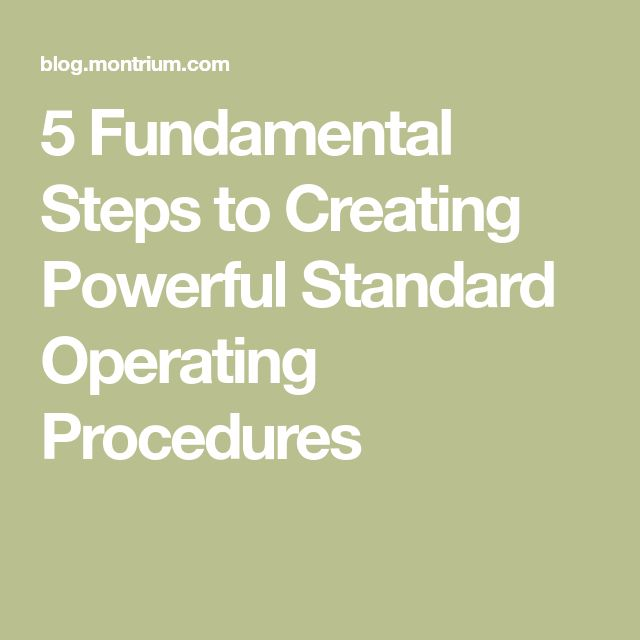 Best 25+ Standard operating procedure ideas on Pinterest - how to write a standard operating procedure
