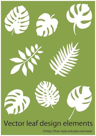 tropical leaf elements thumb 400x562 1620 モンステラなど南国系リーフのイラスト素材(Ai) Free Style