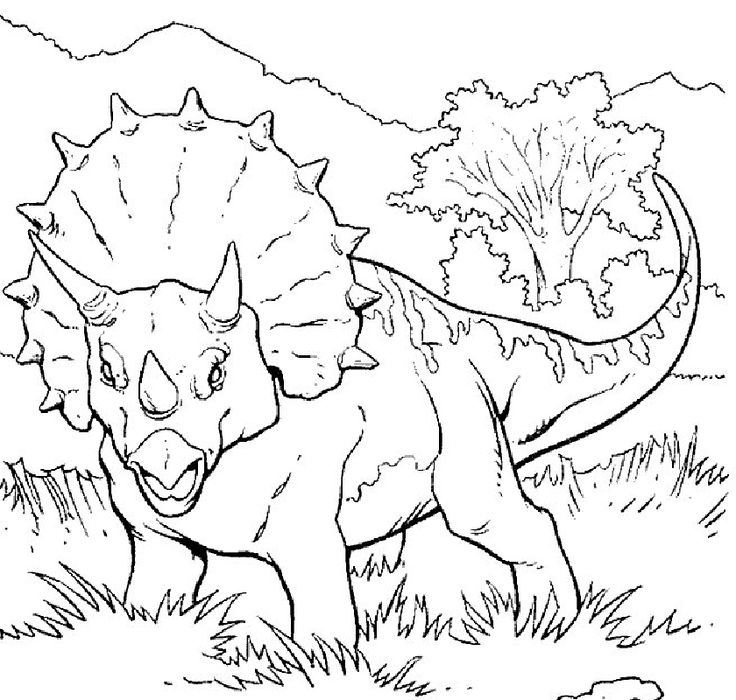dinosaurs coloring pages 21 - Dinosaur Coloring Pages Realistic