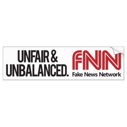 Fake News Mainstream Media Network Bumpersticker Bumper Sticker - sticker stickers custom unique cool diy