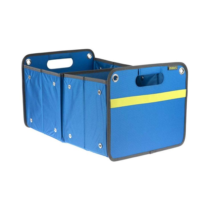 Meori Large Outdoor Foldable Box in Mediterranean Blue | Storage Box | Tough yet stylish | Versatile | Outdoors | Water Repellant | Features large grommets so you can easily secure it to boats, cars or trucks | #meori #foldablestorage #foldablebox #storagebox #storagesolutions #stylish #tough #versatile #outdoors