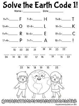 Earth Day Math Codes FREE!