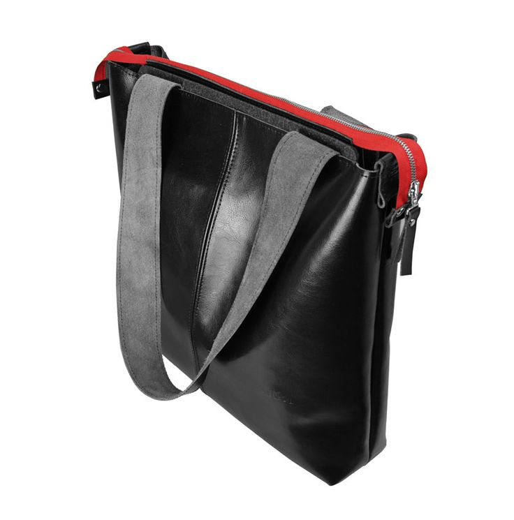 TOREBKA SKÓRZANA RED #red #black #shoulderbag #bag #leatherbag
