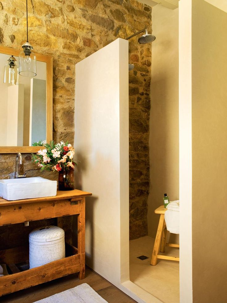 138 best ba os rusticos rustic bathrooms images on for Decoracion de banos rusticos