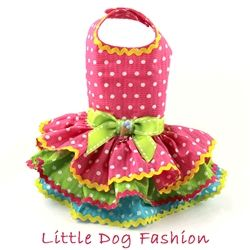 Why not let your fur kid enjoy summer in this ruffle dog dress? Made from…