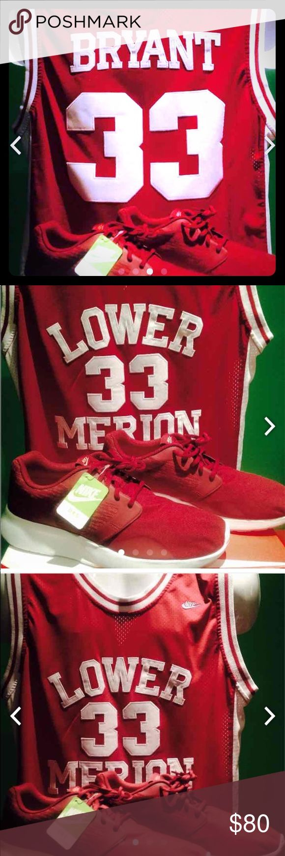 Kobe high school jersey size 1x combo shoes size11 Nike Kobe High School Combo Pack! #33 Lower Merion Kobe Bryant's High School Jersey with a Matching Pair of Nike Kaishi's to rock with it! Jersey is in great condition  1X  very low milage and the shoes are size 11 brand new in the box! Nike Shoes Sneakers