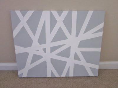 DIY: Painters Tape, Diy Diy, Diy Art, Canvas Art, Diy Canvas, Tape Paintings, Diy Wall Art, Easy Art, Masks Tape