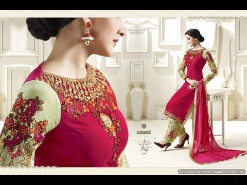 Beautiful # Punjabi Suit Embroidery Designs salwar kameez neck designs - YouTube