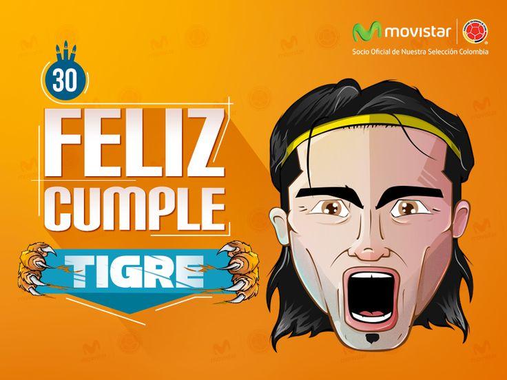 El 9 de la Selección hoy está de cumple! Deja aquí tu mensaje para el Tigre Falcao.