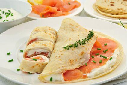 Wrap saumon et herbes sauce au yaourt