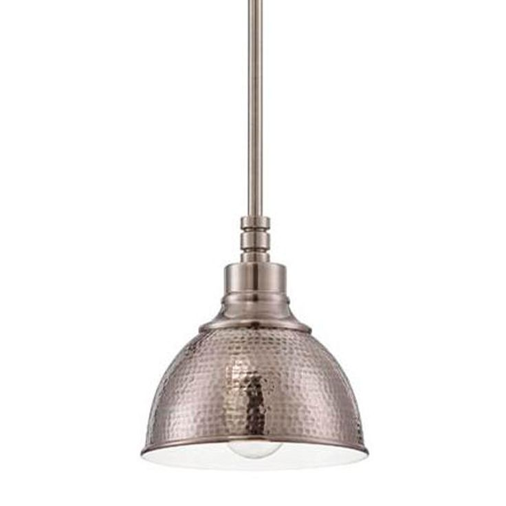 Small Hammered Metal Pendant Light. http://www.shadesoflight.com/small-hammered-metal_pendant-light.html