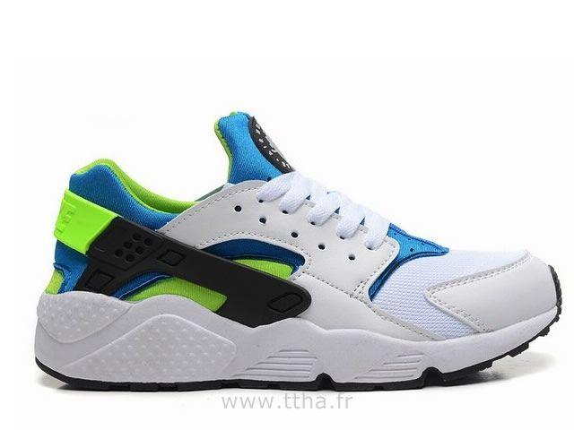 Homme Nike Air Huarache -- blanc/vert