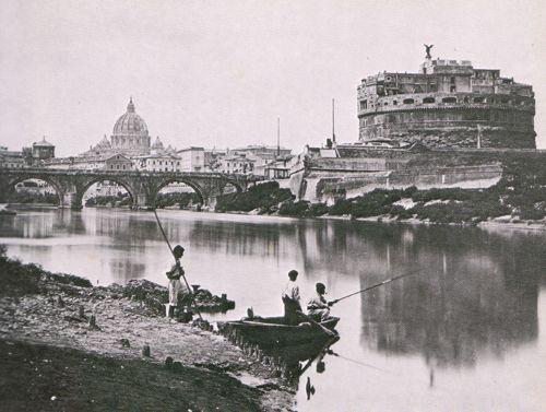 Il Tevere vicino Castel Sant'Angelo, c. 1868