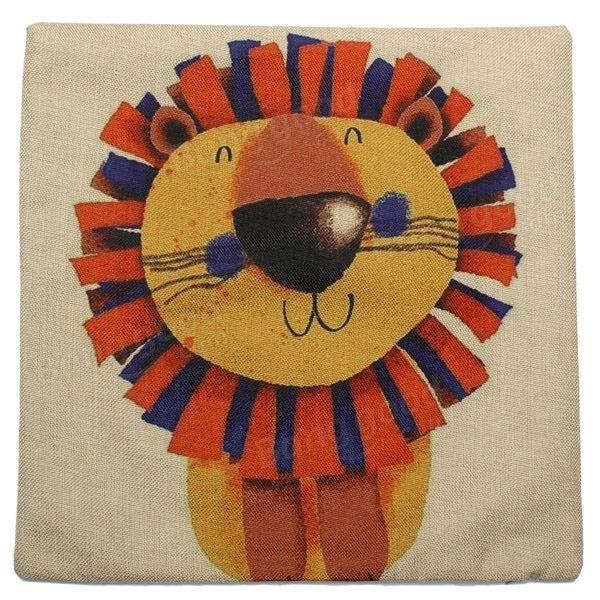 Милый мультфильм Лев Pattern хлопок постельное белье Домашний офис наволочка на при вашем заказе на banggood