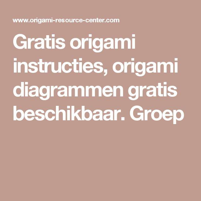 Gratis origami instructies, origami diagrammen gratis beschikbaar. Groep
