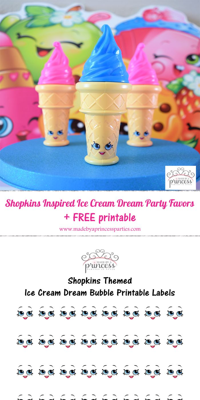 shopkins inspired ice cream dream party favor pin it