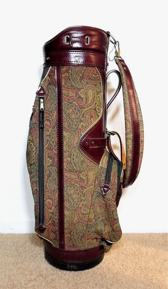 Vintage BURTON Leather Embroidered Tapestry Paisley Golf ... on burton golf bag white, burton executive golf bag, burton golf bags men, burton golf bag logo,