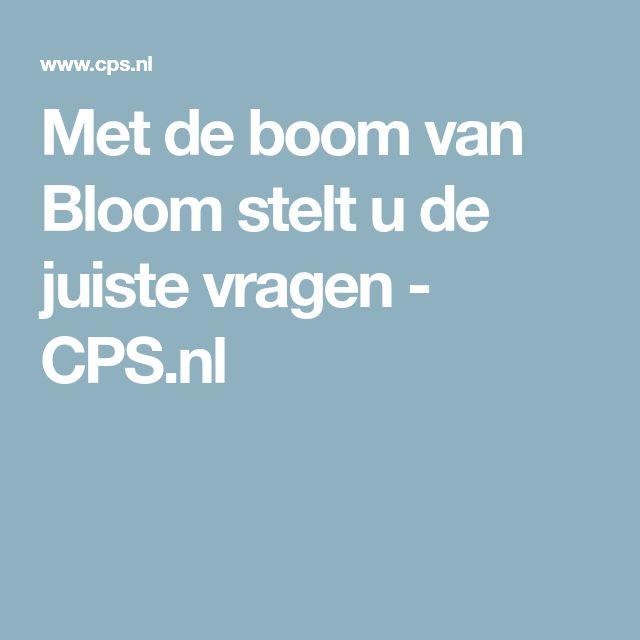 Met de boom van Bloom stelt u de juiste vragen - CPS.nl