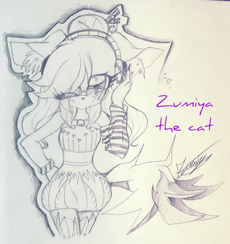 Listening to the music ❤ Art by @Zumiya73 (Zumiya belongs to me) | Then...*cough* I changed her name, she isn't no more Sofy the cat but Zumiya the cat :3 And Zumi-chan for friends :3 Infact she's me in mobian form (Sonic the hedgehog form) ;3