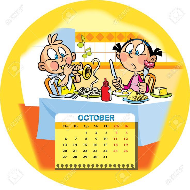 Calendario de la red en octubre 2014 en el contexto de un for Clipart calendario