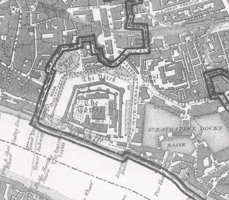 The Victualling Office at Little Tower Hill is where the Royal Mint is, on this map.