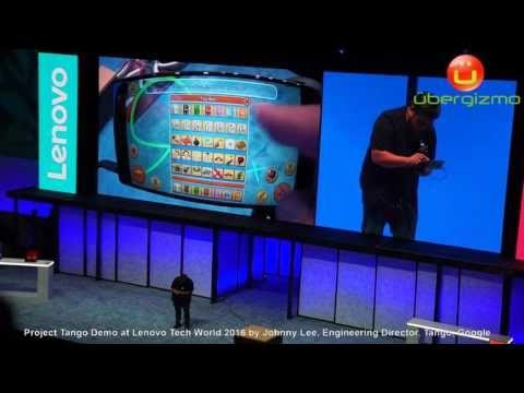 Project Tango Demo Lenovo Tech World - Domino Game in AR - YouTube