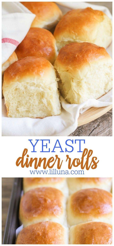 Yeast Rolls Recipe Food Recipes Homemade Yeast Rolls Dinner