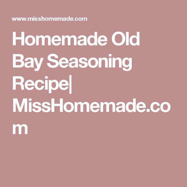 Homemade Old Bay Seasoning Recipe  MissHomemade.com