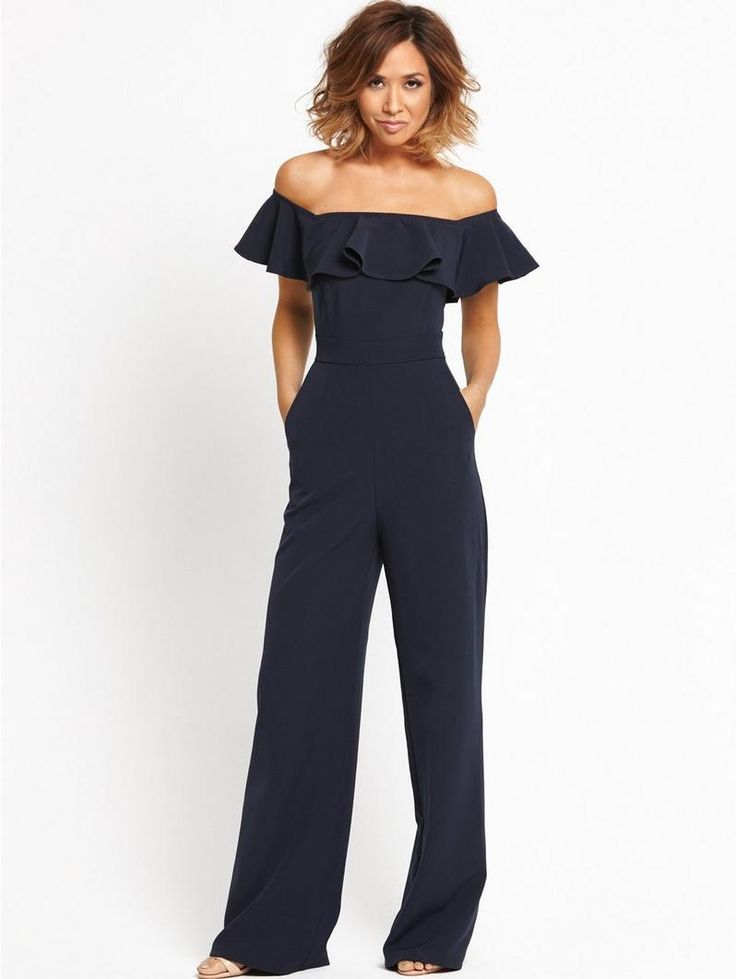 Myleene Klass highlights hourglass figure in form-fitting bardot jumpsuit | Daily Mail Online