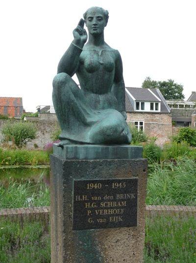 Oorlogsmonument 1940 - 1945 in Vianen.