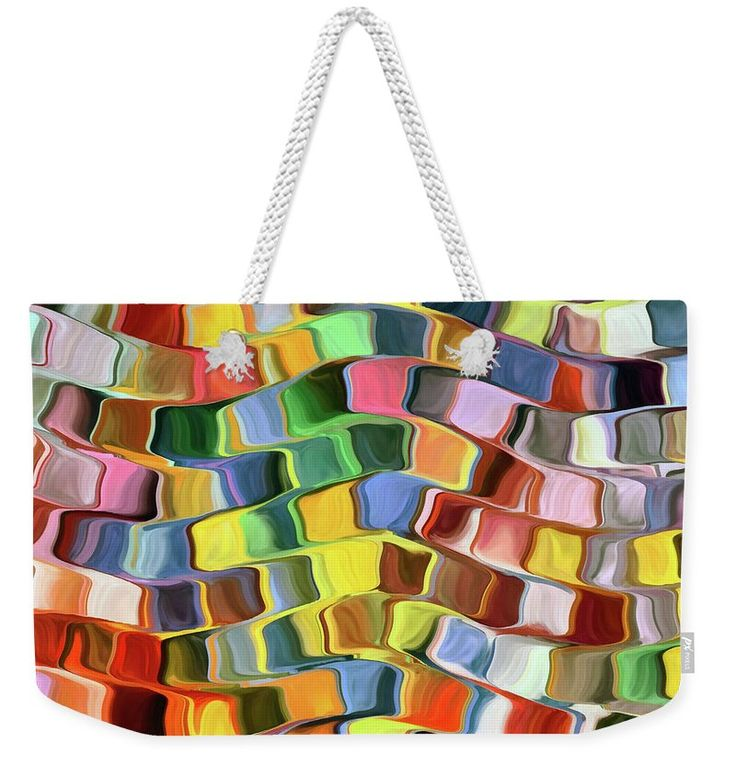 Abstract Weekender Tote Bag featuring the painting Colorful Pop Abstract by Grigorios Moraitis
