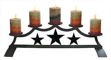 Fireplace Candle Holder - Wrought Iron Candle Holders