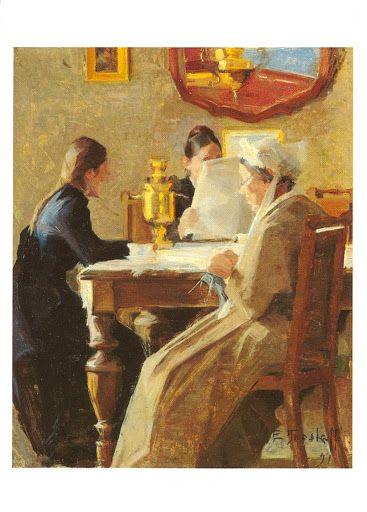 Ellen Thesleff (1869-1954) Evening Tea, 1891