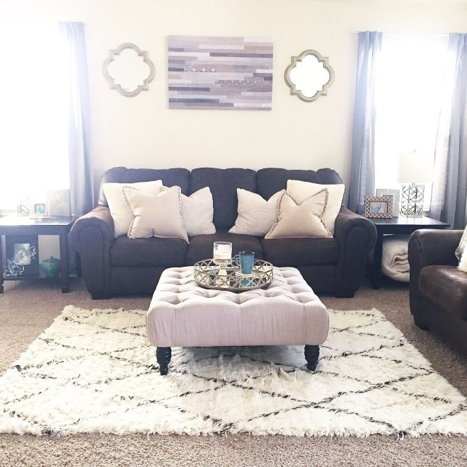 Living room. Decor from Target, TJ Maxx and Overstock.