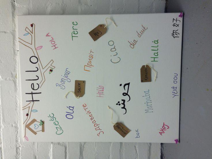Welcome board for nursery