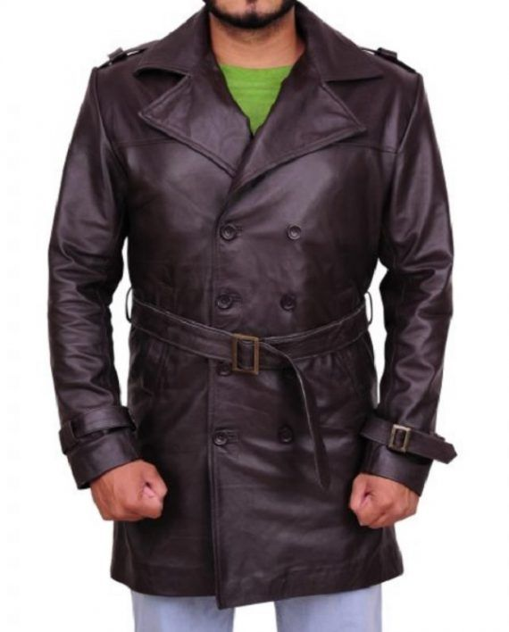 Watchmen Jackie Earle Haley Leather Coat (7)