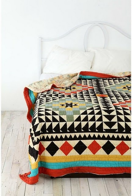 .: Urbanoutfitters, Blanket, Urban Outfitters, Pattern, Bedspreads, Beds Spreads, Kaleidoscopes Quilts, Colors Quilts, Bold Colors