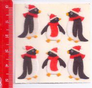 PENGUIN RED HAT - pinguini 80s Sandylion Canada sticker adesive kawaii fuzzy