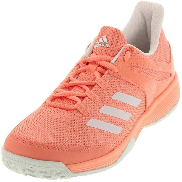 Create and beat them to the point in the adidas Junior Adizero Club K Tennis Shoes in Chalk Coral and White! When you have the energy for fast paced sets, lace up this lightweight tennis shoe that features a breathable mesh upper with climacool vents for ultimate, 360 degree airflow.