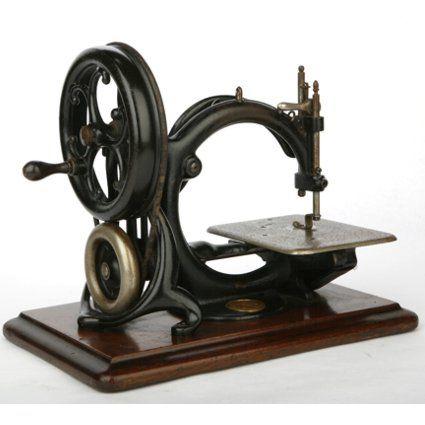 Maquina de coser como objeto de decoración